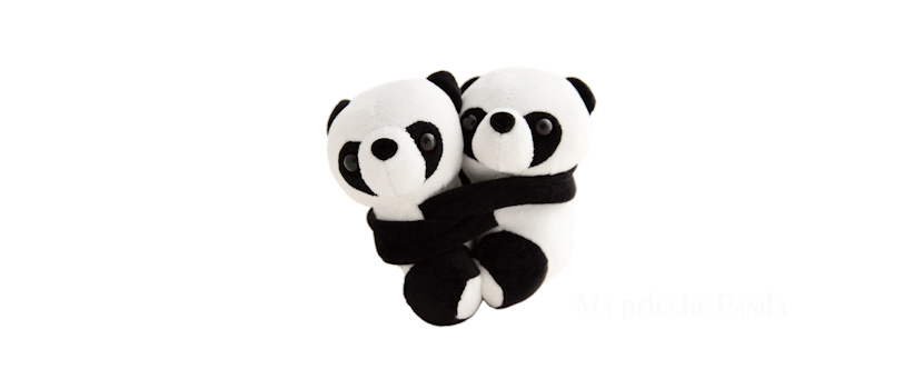 couple panda lové détachable