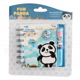 Book Panda bleu avec stylo