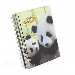 Cahier spirale Panda vert