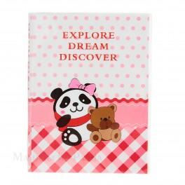 bloc note Panda rose
