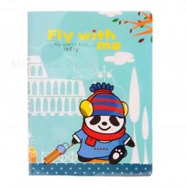 bloc note Panda bleu